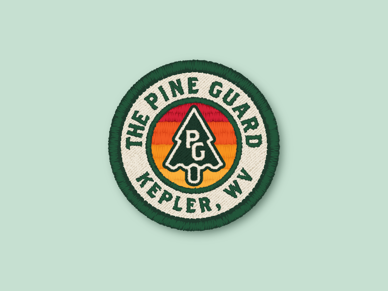 The Pine Guard mcelroys the adventure zone pine guard twill embroidery patch badge