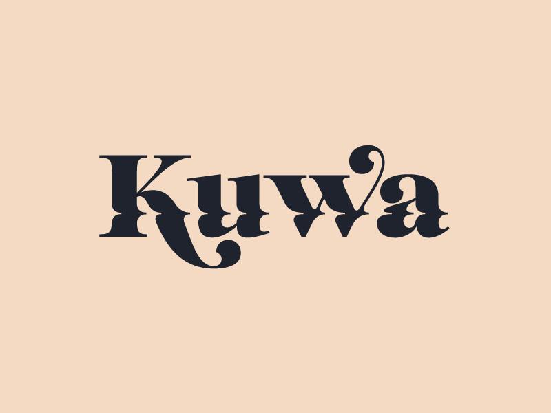Kuwa Branding Exploration type textiles marbling logotype logo design branding