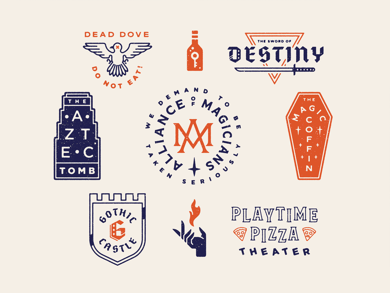 Where Did the Lighter Fluid Come From? texture typography type vintage arrested development logo lockup crest badge illustration