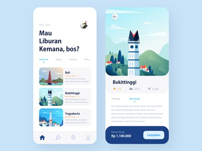 Travel App interface ux ui trip illustration icon mobile app design travel app