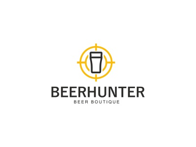 logo for a beer store - BeerHunter logofactory logotype branding agency logotype design logo agency branding concept brand agency brand logo design brand design logos beer logo beer branding logo