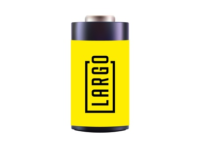 Largo - logo for a battery logodesign logofactory brand identity logo battery branding design logo agency brand agency brand design logo design branding agency brand branding battery logo