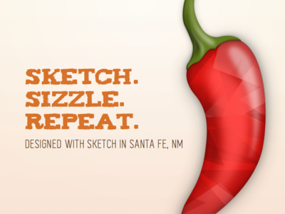 Sketch-ing in Santa Fe, NM sketch design hot spicy illustration text red chili pepper