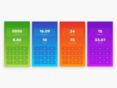 Calculadora de conversión gradients mobile calculator