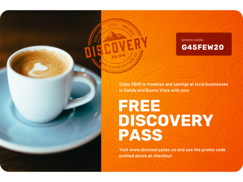 Discovery Pass Gift Card colorado topography orange espresso gift card