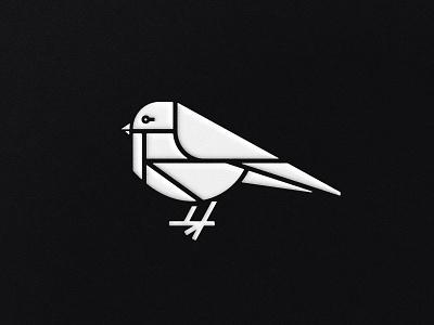 Backyard Bird chickadee junco robbin sparrow finch songbird nuthatch bird mark symbol logo black and white