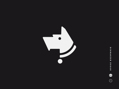 Schnauzer Doggo dog collar simple illustration head bold schnauzer dog symbol icon mark logo black and white