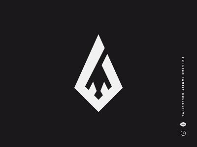 Foreign Family Collective monogram diamond electronic music odesza dimond ff foreign family symbol mark logo black and white