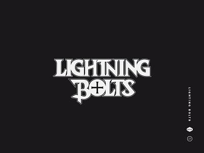 Lighting Bolts decorative serif 80s stephen king skateboard lightning bolts hardware mark logotype logo black and white