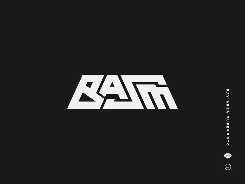 Bay Area Supermoto black and white logo mark icon symbol 7 6 5 4 gang supermoto bay area