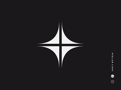 Stellar stellar symbol simple mark logo spark glitter flash gleam light star shine