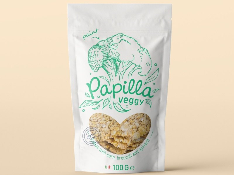 Playfull and friendly package design for corn cakes