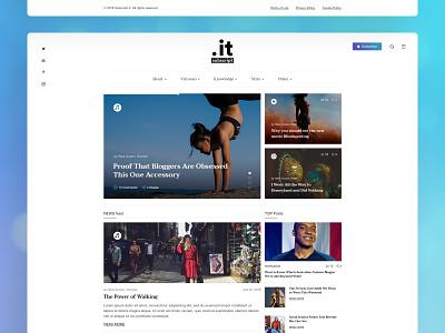 Subscript.it topics news slider sidebar articles new white website design blog web design