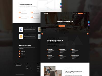Web Design For IT Company ui design ui homepage trend company development landing dark back web design webdesign