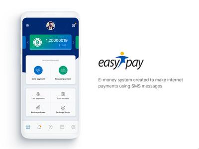 EasyPay - Application Dashboard Concept