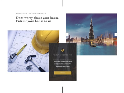 Building Company Block Design engineering construction company composed grid landing page landing building company building user interface ui