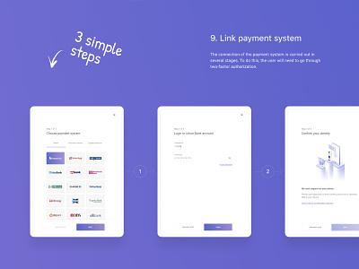 Payment System Presentation Piece violet link payment system payments steps ui