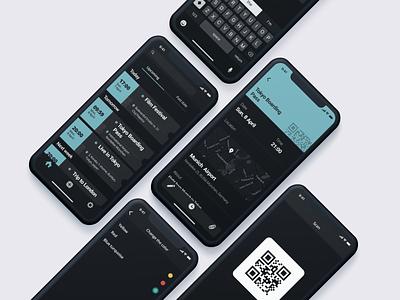 Magpie App 1 mobile app dark ui ux tickets app ui
