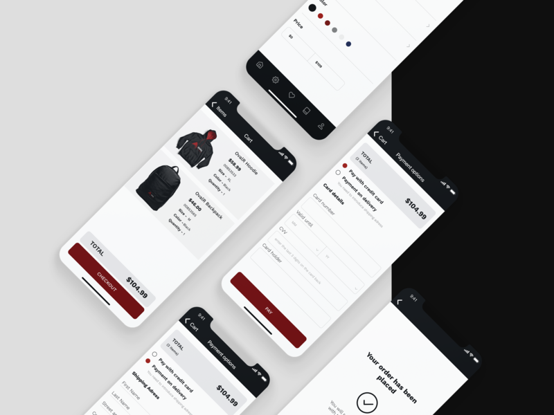 Oval Ridge app ecommerce design mobile app ios interaction ux ui