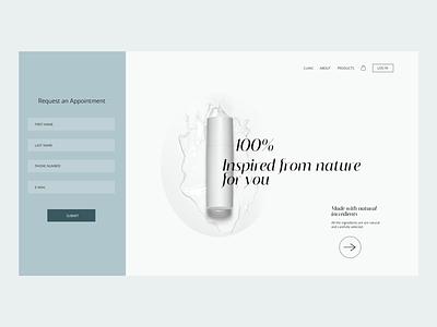Web UI exploration 5-10 landingpage webdesign cosmetics ui design ui