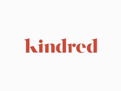 Kindred Logo serif brand branding mark identity logo