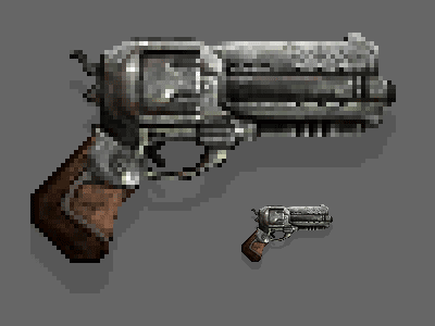 Raynor's Revolver beef gun pistol raynor jim star craft starcraft revolver pixel art