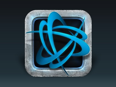 Battle.net Authenticator App Icon battlenet battle.net battle net blizz blizzard blue grey metal icon logo futuristic texture shiny gloss app mobile apps iphone ipad beefy thick tangible frame border pop physical tactile