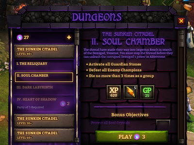 Dungeon Panel