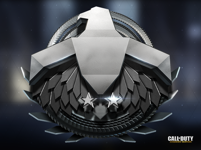 Platinum Rank Icon metal future call of duty icon bird eagle star ring game
