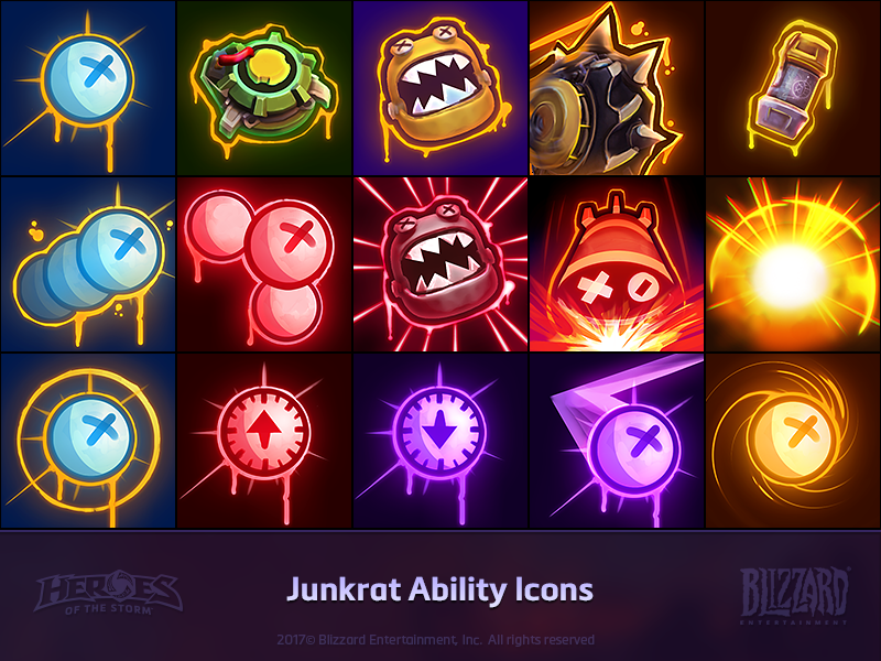 Junkrat Ability Icons by Johnny Waterman on Dribbble