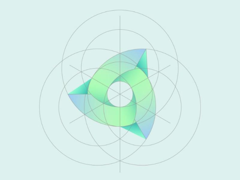 Windmil illustrator icon logo