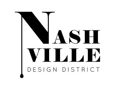Nashville Design District Mock-up logo mockup icon illustration minimal mobile event branding event desing brand logo nashville typography logo lettering illustrator graphic design design branding brand art