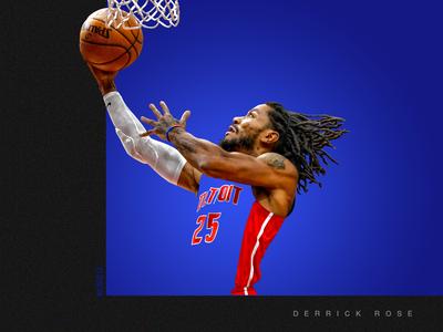 """""""COLOR BOUND"""" Derrick Rose artwork"""