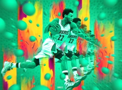 """Andrew Wiggins """"GREEN"""" Poster"""