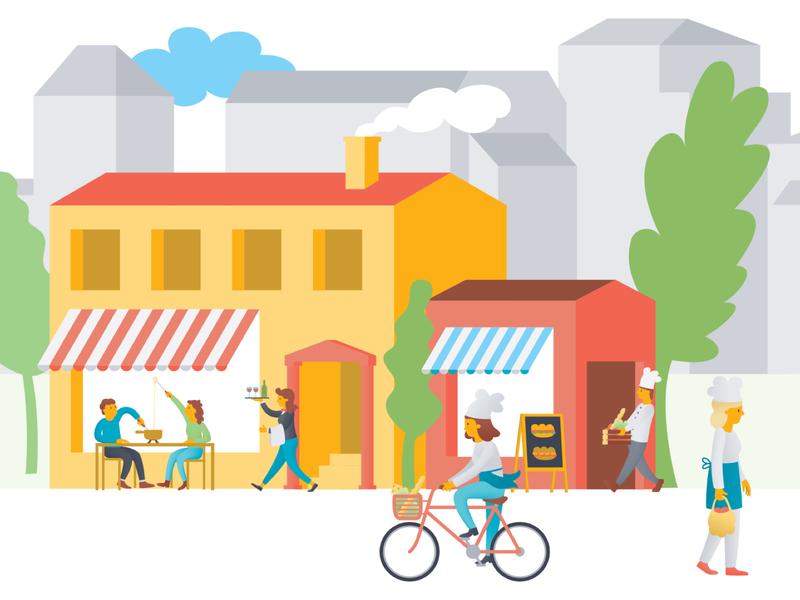 Product Illustration vector illustration branding frontify bakery city