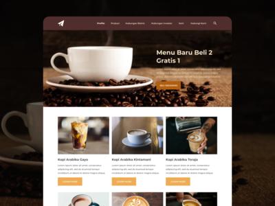 Coffee Web Design UI