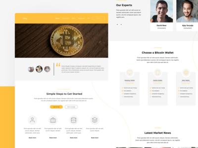 UI Exploration Web Design Bitcoin