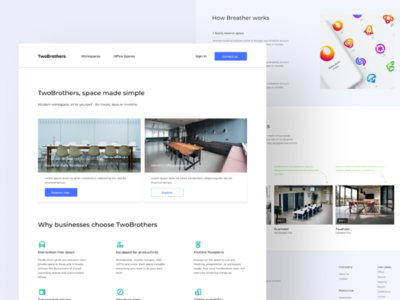 Landing Page - Rent Meeting Place