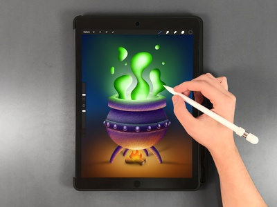 Cauldron Drawing on iPad Pro