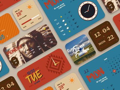 Native American Style Widgets app icon design ios dashboard ui dashboad widgets widget vector ux ui design