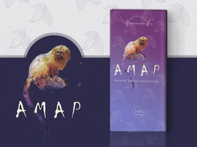 AMAP - natural cocoa cultivation dribbbleweeklywarmup package design chocolate packaging wrapper mascot logo mascot design redesign challenge dribble illustration logo design chocolate weekly warm-up