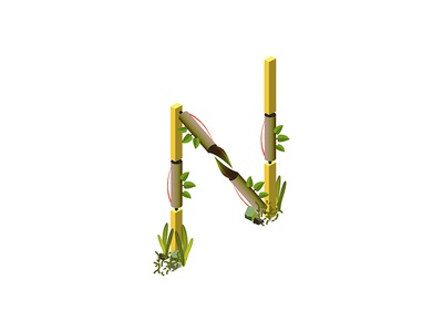 Isometric Letter N