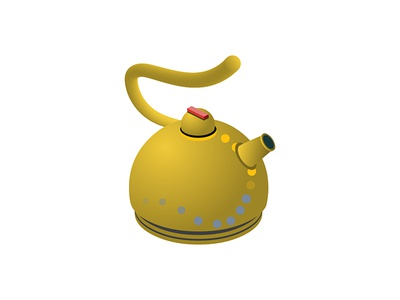 Isometric Number 5 5 boil 36daysoftype 36daysoftype07 pot hot steam yellow utensils kitchen kettle number design vector 2d game isometric icon illustration