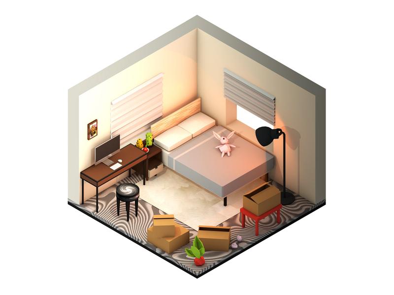 2nd Isometric Room