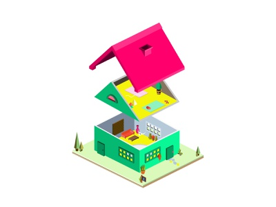 Isometric House Dissection vector illustration house app eye catching isometric isometric icons house design town city building architecture floor dissection interior house for sale real estate home house isometric illustration isometric design isometric art