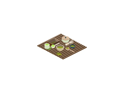 🍵Isometric Japanese Matcha Tea Icons icon design icon set brewing healthy food and drink green tea drink icons isometric icons isometric illustration isometric design isometric art japan japanese tea matcha 3d vector isometric icon illustration