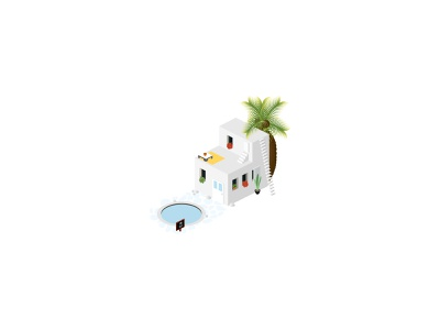 🌴 Isometric Summer House icons small icons cute santorini greece for sale real estate holiday vacation summer house ui house 3d architecture design 2d vector isometric icon illustration