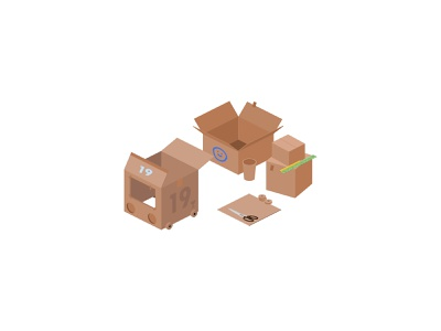📦 Isometric Toy Car Making pandemic covid19 recycle sustainable zero waste play isometric icons education app article web banner infographic race car ideas kids cardboard box car toy car illustration