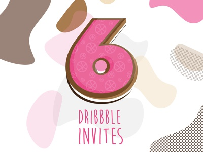 x6 Dribbble Invites icon player designer food cake delicious donut sweet dribbble invitation candy pink pattern cow vector illustration lucky 6 invitation dribbble invite