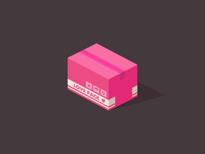 Love Pack ♥ heart relationship radiation toxic valentines day love box container pink fan art metal gear solid video game love pack design game vector 2d isometric icon illustration